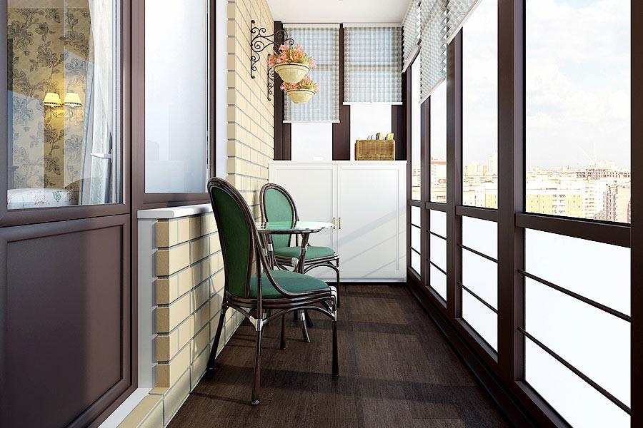 Дизайн балкона с панорамным остеклением фото