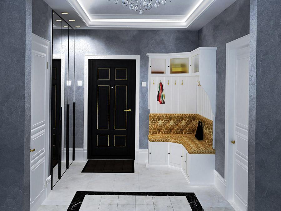 какая металлическая дверь лучше смотрится в квартире